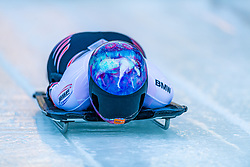 17.01.2020, Olympia Eiskanal, Innsbruck, AUT, BMW IBSF Weltcup Bob und Skeleton, Igls, Skeleton, Damen, 1. Lauf, im Bild Mirela Rahneva (CAN) // Mirela Rahneva of Canada in action during her 1st run of women's Skeleton competition of BMW IBSF World Cup at the Olympia Eiskanal in Innsbruck, Austria on 2020/01/17. EXPA Pictures © 2020, PhotoCredit: EXPA/ Stefan Adelsberger