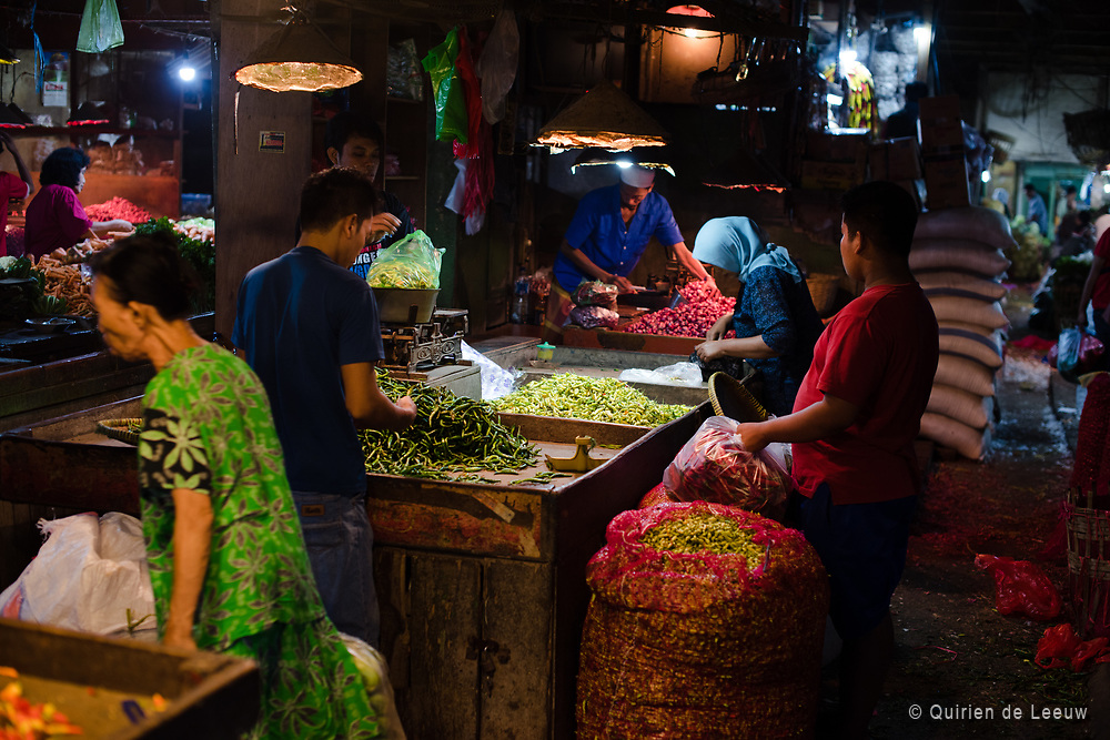 Pasar Pabean market place for fruits and vegetables located in Surabaya city
