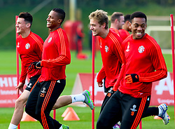 Antonio Valencia of Manchester United is all smiles during training - Mandatory byline: Matt McNulty/JMP - 07966386802 - 20/10/2015 - FOOTBALL - Aon Training Complex -Manchester,England - UEFA Champions League