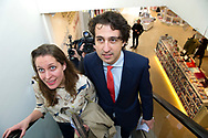 15-3-2017 - DEN HAAG - Jesse Klaver groenlink samen met zijn vrouw Jolein Klaver  gaan stemmen bij boekhandel Paagman. Verkiezingen ,  COPYRIGHT ROBIN UTRECHT<br /> <br /> 15-3-2017 - THE HAGUE - Jesse Klaver groenlinks go along with his wife Jolein Clover voting Paagman bookstore. Elections, COPYRIGHT ROBIN UTRECHT