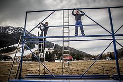 Preparation of promotion board 1 week before FIS Ski Flying World Cup Planica 2017, on March 14, 2017 in Kranjska Gora, Slovenia. Photo by Vid Ponikvar / Sportida