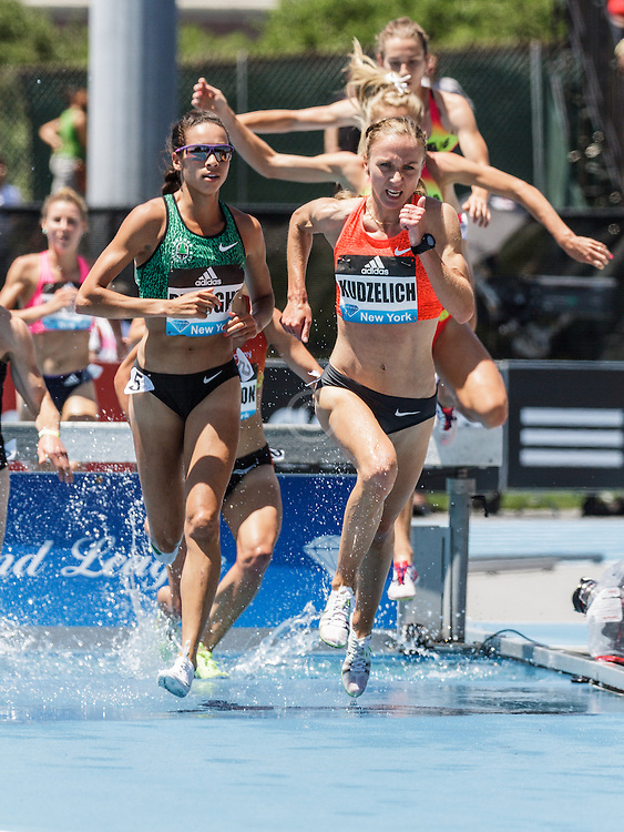 adidas Grand Prix Diamond League Track & Field: womens 3000m steeplechase, Sviatlana Kudzelich, BLR, Nike
