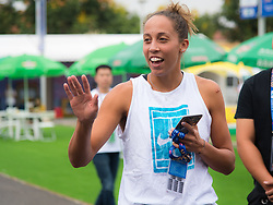 September 22, 2018 - Madison Keys of the United States meets little fans at the 2018 Dongfeng Motor Wuhan Open WTA Premier 5 tennis tournament (Credit Image: © AFP7 via ZUMA Wire)