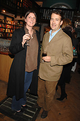 SAM & SAM CLARK at a party to celebrate the publication of The New English Table by Rose Prince held at The Daunt Bookshop, Marylebone High Street, London on 9th April 2007.<br />