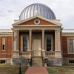 Picture of the Cincinnati Observatory in Cincinnati, Ohio. The Cincinnati Observatory is 19th century observatory and National Historic Landmark located on Mt. Lookout and houses the world's oldest telescope still in use by the general public. Photo is high resolution an was taken in 2012.