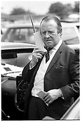 Sir Philip Payne-Galway on telephone. Derby Day. Epsom. 1 June 1988. SUPPLIED FOR ONE-TIME USE ONLY> DO NOT ARCHIVE. ? Copyright Photograph by Dafydd Jones 248 Clapham Rd.  London SW90PZ Tel 020 7820 0771 www.dafjones.com