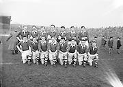 Neg No: 1001/a3626-a3632...17031956IPFCF...17.03.1956...Interprovincial Railway Cup Football - Final...Ulster.00-12.Munster.00-04...Ulster. .S. Morris, N. O'Reilly (Cavan), J. Bratten, J. McKnight (Armagh), K. Mussen (Down), J. Rice (Monaghan), J. McDonnell (Cavan), J. McKeever (Derry), T. Maguire (Cavan), K. Denvir (Down), J. Taggart (Tyrone), J. Cunningham, P. Campbell (Armagh), V. Sherlock (Cavan), Rody Gribben (Derry).