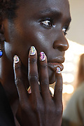 KISS Nails at the Christian Siriano Spring 2018 Fashion Show in New York, Saturday, Sept. 9, 2017.