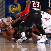 Idaho Stampede Forward Jerrelle Benimon (50) attempts to gain control of the ball in the second half of a NBA D-league regular season basketball game between the Delaware 87ers and the Idaho Stampede (Utah Jazz) Tuesday, Feb. 03, 2015 at The Bob Carpenter Sports Convocation Center in Newark, DEL