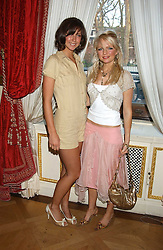 Left to right, actress MARGO STILLEY and HANNAH SANDLING at a fashion show featuring the Miss Selfridge Autumn/Winter '05 collections held at The Wallace Collection, Manchester Square, London W1 on 6th April 2005.<br /><br />NON EXCLUSIVE - WORLD RIGHTS