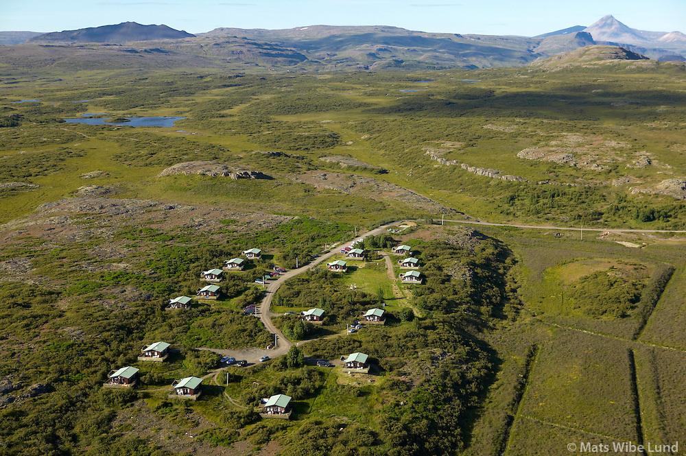 Stóru-Skógar BSRB, séð til norðurs, Stafholtstungnahreppur /.Storu-Skogar BSRB holiday homes, viewing north, Stafholtstungnahreppur