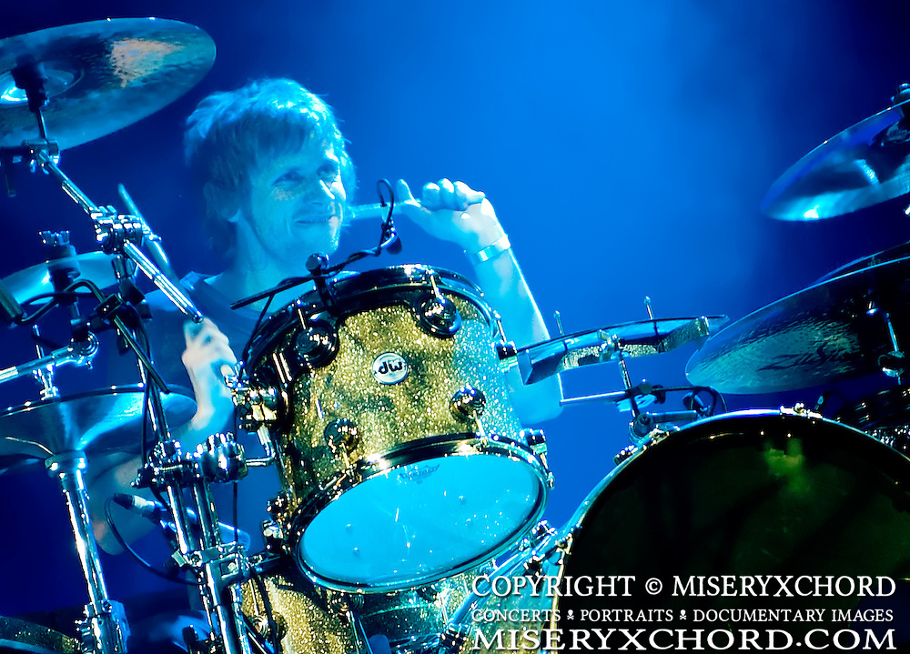 Dominic Howard of Muse performs at Live 105's Not So Silent Night at Oracle Arena in Oakland California USA on December 11 2009. Image available for editorial licensing only.