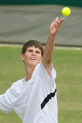 LONDON, ENGLAND - Saturday, June 26, 2010: Dennis Novikov (USA) during the Boys' Singles 1st Round match on day six of the Wimbledon Lawn Tennis Championships at the All England Lawn Tennis and Croquet Club. (Pic by David Rawcliffe/Propaganda)
