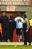 Photo: Paul Greenwood.<br />Blackpool v Norwich City. The FA Cup. 27/01/2007. Norwich's Chris Brown heads down the tunnel after his red card