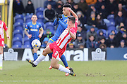Lyle Taylor forward for AFC Wimbledon (33) in action during the Sky Bet League 2 match between AFC Wimbledon and Accrington Stanley at the Cherry Red Records Stadium, Kingston, England on 5 March 2016. Photo by Stuart Butcher.