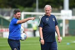Coventry City Under 23s Coach Nicky Eaden (left) with acting assitant manager Adi Viveash