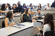 Alyssa Valiente, Brenda Alvarado during the first event of the Mihaylo College of Business and Economics Women's Leadership Program at California State University Fullerton  on Friday, Nov. 6, 2015 in Fullerton, California.