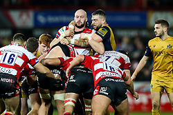 Jon Fisher of Bristol Rugby competes - Rogan Thomson/JMP - 03/12/2016 - RUGBY UNION - Kingsholm Stadium - Gloucester, England - Gloucester Rugby v Bristol Rugby - Aviva Premiership.