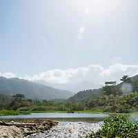 Río en la Bahía de Oritapo. Caruao. Estado Vargas. Venezuela. River in the Bay of Oritapo. Caruao. State Vargas. Venezuela