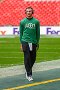 Philadelphia Eagles Carson Wentz QB (11) in the warm up session ahead of  the International Series match between Jacksonville Jaguars and Philadelphia Eagles at Wembley Stadium, London, England on 28 October 2018.