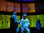 Children wander through an exhibit at Chicago's Museum of Science and Industry.
