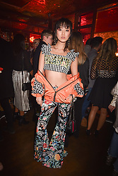 Betty Bachz at the Maybelline New York Bring on The Night party hosted by Adriana Lima & Jourdan Dunn at Scotch of St.James, 13 Masons Yard, England. 18 February 2017.