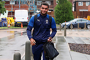 AFC Wimbledon defender Reuben Collins (36) arriving during the Pre-Season Friendly match between AFC Wimbledon and Crystal Palace at the Cherry Red Records Stadium, Kingston, England on 30 July 2019.