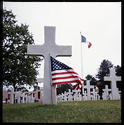 One of the many graves of unknown soldier in the American cemetery on Omaha beach