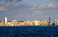HAVANA, CUBA - CIRCA MARCH 2017:  Havana skyline and the malecon. A popular tourist attraction in Havana.