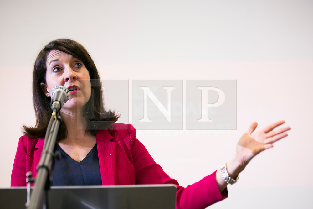 © Licensed to London News Pictures. 29/05/2015.Leicester,UK. Labour Leader candidate Liz Kendall outlining her plans for the future of the Labour Party at Leicester University. Photo credit : Dave Warren/LNP