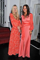 Left to right, ASTRID HARBOD and LAVINIA BRENNAN at a reception hosted by Beulah London and the United Nations to launch Beulah London's AW'11 Collection 'Clothed in Love' and the Beulah Blue Heart Campaign held at Dorsia, 3 Cromwell Road, London SW7 on 18th October 2011.