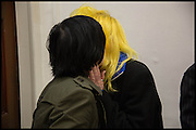 SHARLEEN SPITERI; PAM HOGG Chris Stein / Negative: Me, Blondie, and The Advent of Chris Stein / Negative: Me, Blondie, and The Advent of Punk - private view, Somerset House, the Strand. London. 5 November 2014.