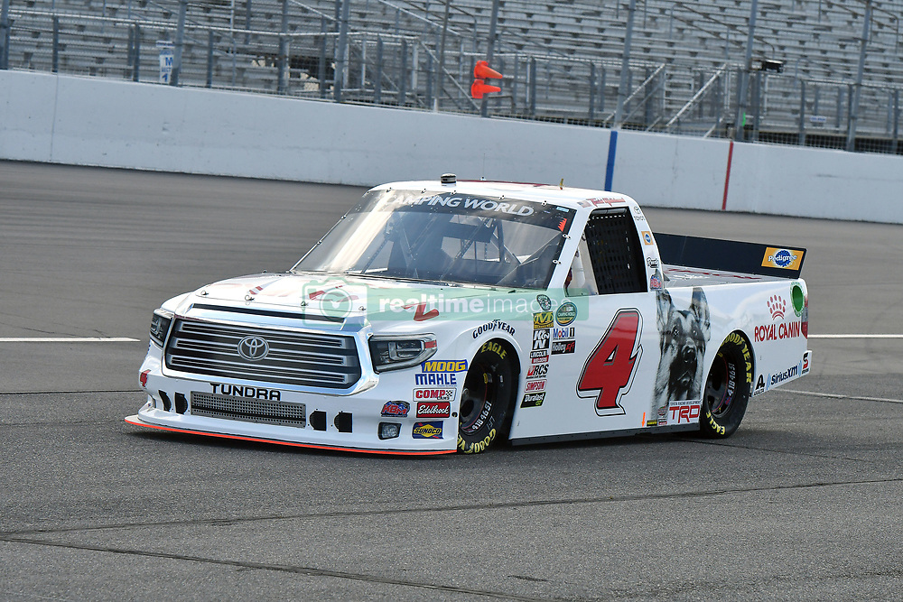June 22, 2018 - Madison, Illinois, U.S. - MADISON, IL - JUNE 22:  Todd Gilliland( 4) driving a Toyota for Royal Canin warms up before the Camping World Truck Series - Eaton 200 on June 22, 2018, at Gateway Motorsports Park, Madison, IL.   (Photo by Keith Gillett/Icon Sportswire) (Credit Image: © Keith Gillett/Icon SMI via ZUMA Press)
