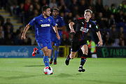AFC Wimbledon attacker Egli Kaja (21) dribbling during the Pre-Season Friendly match between AFC Wimbledon and Crystal Palace at the Cherry Red Records Stadium, Kingston, England on 30 July 2019.