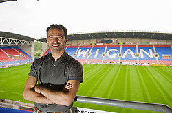 WIGAN, ENGLAND - Monday, August 24, 2009: Wigan Athletic's manager Roberto Martinez. (Photo by David Rawcliffe/Propaganda)