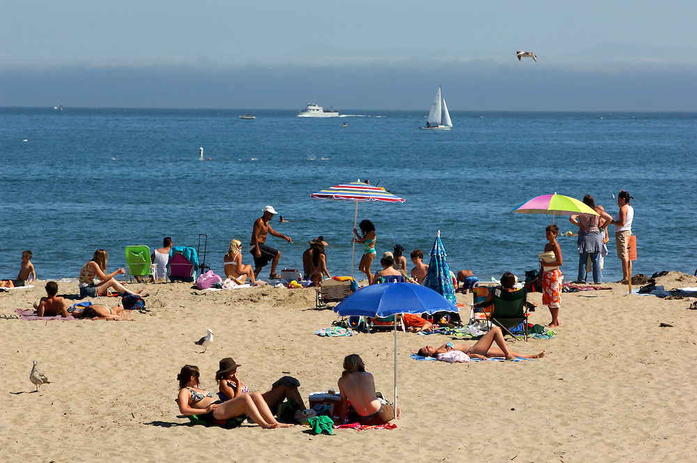 People on Beach, Santa Cruz, California, United States of America