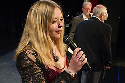 Visually impaired compere at concert