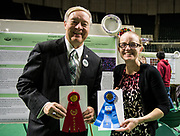 Alison Brittain poses for a picture with Ohio University President Duane Nellis during the 2018 Student Research Expo.