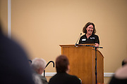 Jennifer Romero, of the Classified Senate, opens the 48th Annual Classified Staff Service Awards in Baker Center Ballroom on Friday, October 14, 2016.