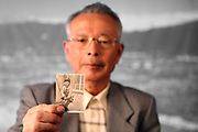 Apr. 07, 2011; Hiroshima, Japan - Isao Aratani holds a picture of when he was a little boy.<br /> Project Hibakusha : Hope for Peace