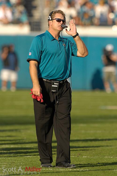 Dec. 9, 2007; Jacksonville, FL, USA;  Jacksonville Jaguars coach Jack Del Rio during his team's game against the Carolina Panthers at Jacksonville Municipal Stadium.                        ©2007 Scott A. Miller..©2007 Scott A. Miller
