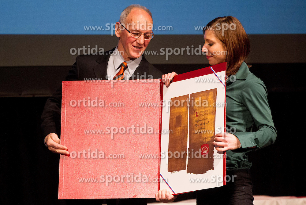 Miro Cerar and Mina Markovic at 48th Annual Awards of Stanko Bloudek for sports achievements in Slovenia in year 2012 on February 12, 2013 in Grand Hotel Union, Ljubljana, Slovenia. (Photo By Vid Ponikvar / Sportida)