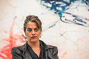 Tracey Emin with Savoured By You - The Last Great Adventure is You - a new exhibition at the White Cube gallery.  It is her first at the London gallery in five years and features: bronze sculptures - including In Grotto (2014), Bird (2014) and a series of bronze bas relief plaques that portray figures; gouaches; paintings; large-scale embroideries; and neon works - including one of the exhibition title. The exhibition 'chronicles the contemplative nature of work'.