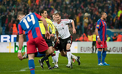 BUCHAREST, ROMANIA - Thursday, December 2, 2010: Liverpool's Milan Jovanovic celebrates scoring the opening goal against FC Steaua Bucuresti during the UEFA Europa League Group K match at the Stadionul Steaua. (Pic by: David Rawcliffe/Propaganda)