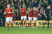 Nottingham Forest forward, on loan from Benfica, Nelson Oliveira scores during the Sky Bet Championship match between Nottingham Forest and Leeds United at the City Ground, Nottingham, England on 27 December 2015. Photo by Simon Davies.
