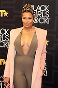 April 1, 2016- Newark, NJ: United States- Actress Eva Marcille attends the 2016 Black Girls Rock Red Carpet Arrivals held at NJPAC on April 1, 2016 in Newark, New Jersey. Black Girls Rock! is an annual award show, founded by DJ Beverly Bond, that honors and promotes women of color in different fields involving music, entertainment, medicine, entrepreneurship and visionary aspects.   (Terrence Jennings/terrencejennings.com)