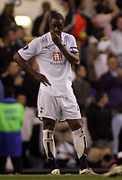 Photo: Paul Thomas.<br />Tottenham Hotspur v Sevilla. UEFA Cup. Quarter Final, 2nd Leg. 12/04/2007.<br /><br />Ledley King shows his dejection at the end of the game.