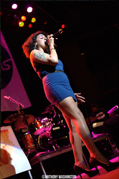 Marsha Ambrosius performs during the BET Music Matters tour at Rams Head Live in Baltimore, MD on Thursday, April 8, 2011.