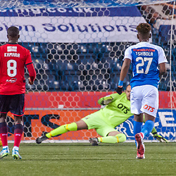 #9 Sofien Moussa (Dundee) scores from the penalty spot for 1-1 - Kilmarnock v Dundee - Ladbrokes Premiership - 13 February 2018 - © Russel Hutcheson | SportPix.org.uk