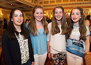 Sarah Rose Sheehan, , Sarah O'Malley , Niamh O'MAlley and Sarah Leeann, all from Kinvara at A Vintage and Pre-Loved Fashion Extravaganza held in the Lady Gregory Hotel in Gort . A fundraising event organised by the Parents Council for Seamount's new pitch.  Photo:Andrew Downes
